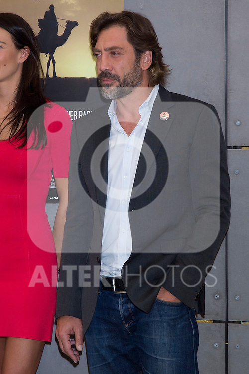 """16.05.2012. presentation of the documentary """"Children of the Clouds"""" in Film Academy in Madrid,  with Javier Bardem as a producer, Elena Anaya who lends his voice to documentaries, Alvaro Longoria as director and as coproductura Lilly Hartley. In the image Javier Bardem (Alterphotos/Marta Gonzalez)"""