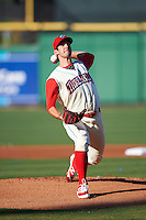 Clearwater Threshers starting pitcher Matt Imhof (48) delivers a pitch during a game against the Dunedin Blue Jays on April 8, 2016 at Bright House Field in Clearwater, Florida.  Dunedin defeated Clearwater 8-3.  (Mike Janes/Four Seam Images)