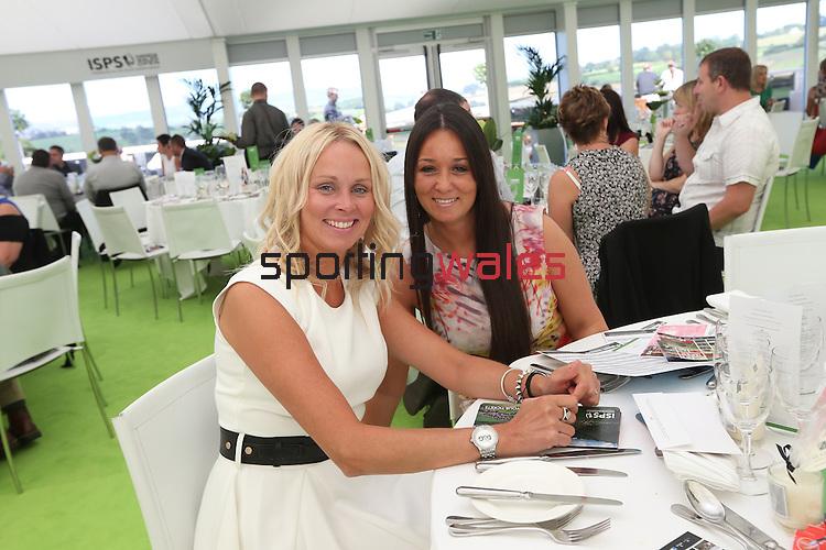 ISPS Handa Wales Open 2013<br /> Celtic Manor Resort<br /> Elizabeth Morgan & Suzanne Tedstone.<br /> 31.08.13<br /> <br /> ©Steve Pope-Sportingwales