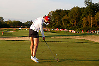 5th September 2021; Toledo, Ohio, USA; Nelly Korda of Team USA hits her tee shot on the third hole during the morning Four-Ball competition during the Solheim Cup on September 5, 2021 at Inverness Club in Toledo, Ohio. (Photo by Brian Spurlock/Icon Sportswire)