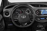 Car pictures of steering wheel view of a 2018 Toyota Yaris Lounge 5 Door Hatchback