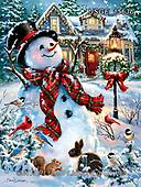 Dona Gelsinger, CHRISTMAS SANTA, SNOWMAN, WEIHNACHTSMÄNNER, SCHNEEMÄNNER, PAPÁ NOEL, MUÑECOS DE NIEVE, paintings+++++,USGE1563B,#x#