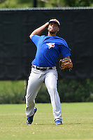 GCL Blue Jays outfielder Andres De Aza (31) during practice before a game against the GCL Braves on June 27, 2014 at the ESPN Wide World of Sports in Orlando, Florida.  GCL Braves defeated GCL Blue Jays 10-9.  (Mike Janes/Four Seam Images)