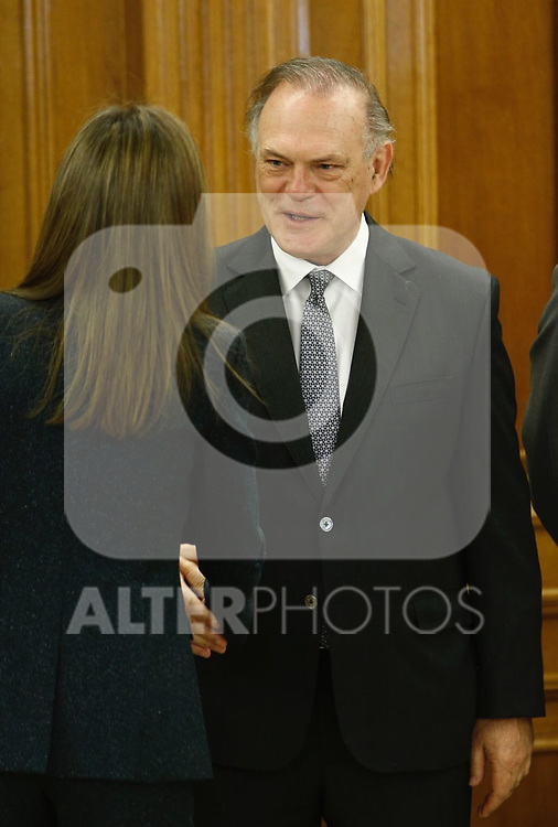 Pedro Piqueras attends patronato of Fundacion Linea Directa and the jury of experts that grant the Journalistic award of road safety at Zarzuela palace in Madrid, Spain. March 16 2017. (ALTERPHOTOS/Rodrigo Jimenez)