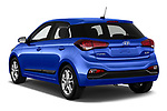 Car pictures of rear three quarter view of a 2019 Hyundai i20 Twist 5 Door Hatchback angular rear