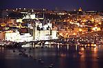 The nightview of Marina in Vittoriosa. Malta