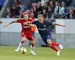 08.08.2019 FC Midtjylland v Rangers: Scott Arfield and Joel Andersson