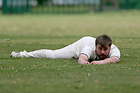 A chance goes astray during Barking CC (batting) vs Hornchurch Athletic CC, Hamro Foundation Essex League Cricket at Mayesbrook Park on 31st July 2021