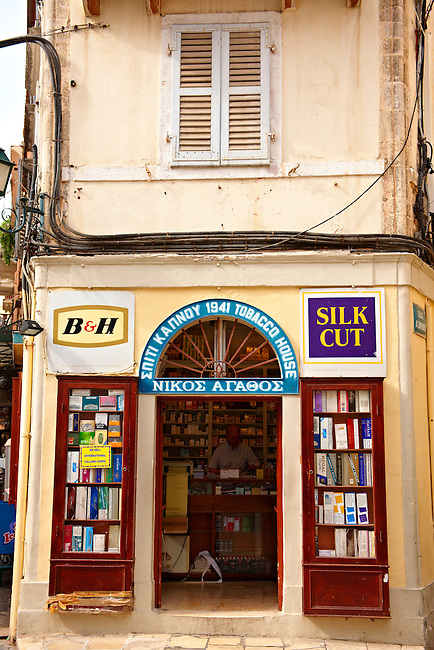 tobacconist , Corfu Old Town, Greek Ionian Islands