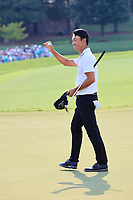 5th September 2021: Atlanta, Georgia, USA;  Kevin Na (USA) waves to the crowd after finishing the 4th and final round of the TOUR Championship  at the East Lake Club in Atlanta, Georgia.