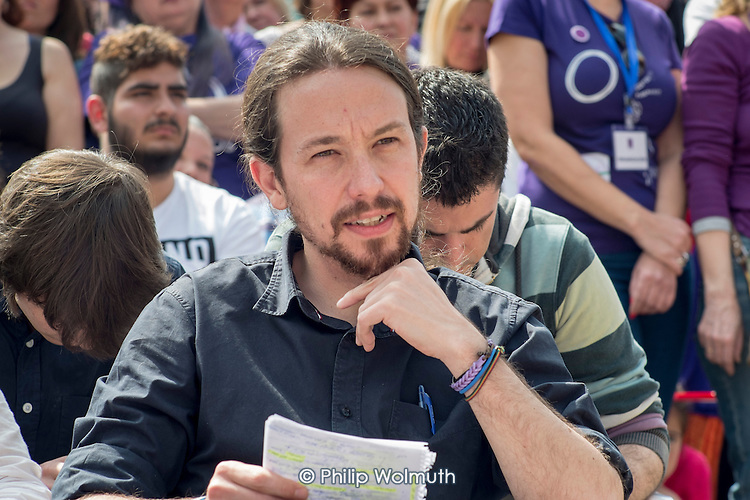 Podemos secretary general Pablo Iglesias at a rally in Malaga a week before Andalusian parliamentary elections in which the grassroots party is hoping to make significant gains.