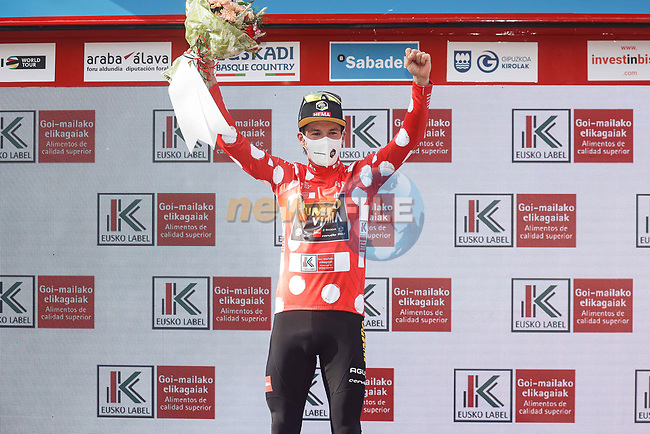 Primoz Roglic (SLO) Team Jumbo-Visma wins the overall and mountains classifications at the end of Stage 6 of the Itzulia Basque Country 2021, running 111.9km from Ondarroa to Arrate, Spain. 10th April 2021.  <br /> Picture: Luis Angel Gomez/Photogomezsport | Cyclefile<br /> <br /> All photos usage must carry mandatory copyright credit (© Cyclefile | Luis Angel Gomez/Photogomezsport)