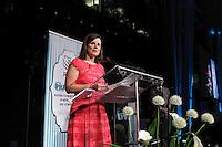 La Ministre Quebecoise de la Justice Stephanie Vallee<br />  au Gala Phenicia de la Chambre de Commerce LGBT du Québec, tenu au Parquet de la Caisse de Depots et Placements du Quebec, jeudi, 26 mai 2016.<br /> <br /> <br /> PHOTO : Pierre Roussel -  Agence Quebec Presse