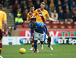 Motherwell v St Johnstone….07.05.16  Fir Park, Motherwell<br />Stephen Pearson brings down Darnell Fisher<br />Picture by Graeme Hart.<br />Copyright Perthshire Picture Agency<br />Tel: 01738 623350  Mobile: 07990 594431