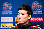 Go Yohan, midfielder of FC Seoul, attends a press conference ahead of their AFC Champions League 2016 Semi Final match against Jeonbuk Hyundai Motors (KOR) at Seoul World Cup Stadium on 18 October 2016, in Seoul, South Korea. Photo by Victor Fraile / Power Sport Images