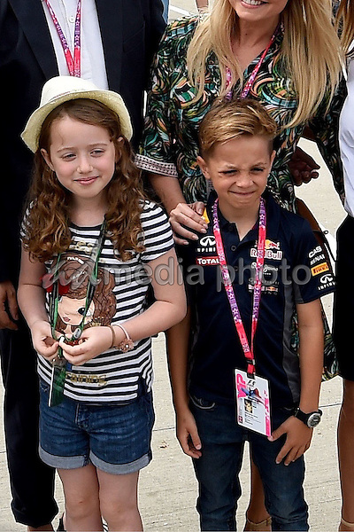 05 July 2015 - Silverstone, Great Britain - Will Young, Emma Bunton; Geri Halliwell, VIP,s, F1 GP. Photo Credit: Jerry Andre/face to face/AdMedia