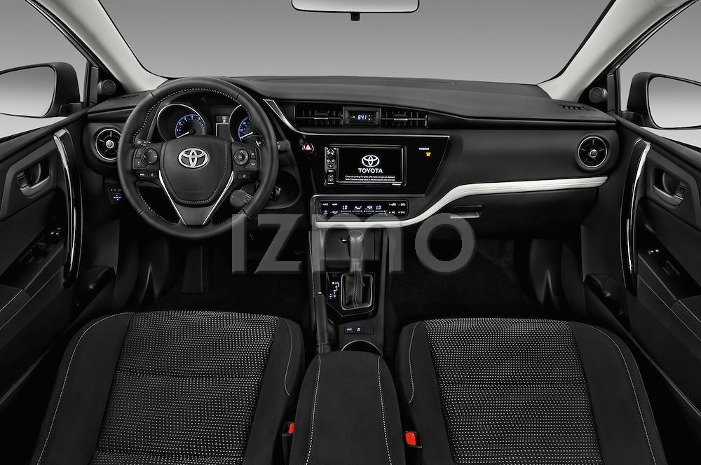 Stock photo of straight dashboard view of 2018 Toyota Corolla-iM CVT-Automatic 5 Door Hatchback Dashboard
