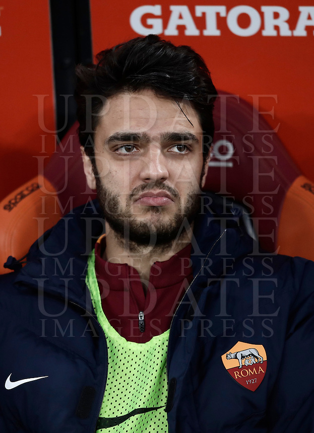 Calcio, Serie A: Roma, stadio Olimpico, 19 febbraio 2017.<br /> Roma's Clément Gernier waits for the start of the Italian Serie A football match between As Roma and Torino at Rome's Olympic stadium, on February 19, 2017.<br /> UPDATE IMAGES PRESS/Isabella Bonotto