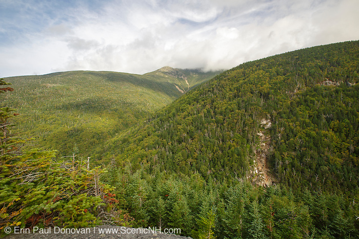 Mount Lafayette in the White Mountains of New Hampshire USA from Eagle Cliff during the summer months.