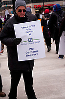 Protest Outside Fifth Third Bank Downtown Chicago 2-21-18