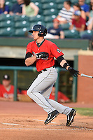 Birmingham Barons outfielder Trayce Thompson (21) at bat during a game against the Chattanooga Lookouts on April 24, 2014 at AT&T Field in Chattanooga, Tennessee.  Chattanooga defeated Birmingham 5-4.  (Mike Janes/Four Seam Images)