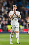 Toni Kroos of Real Madrid celebrates as the La Liga match between Real Madrid and RC Deportivo La Coruna ends at the Santiago Bernabeu Stadium on 10 December 2016 in Madrid, Spain. Photo by Diego Gonzalez Souto / Power Sport Images