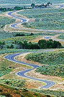 Winding road in Ruby Mountains, Nevada
