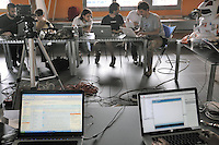 """- Hackmeet 2009, hackers meeting at """"La Fornace"""" squatted social center in Rho (Milan)<br /> <br /> - Hackmeet 2009, raduno degli hackers presso il centro sociale La Fornace di Rho (Milano)"""