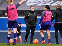 headcoach Patrick Wachel of Anderlecht pictured during a female soccer game between Oud Heverlee Leuven and RSC Anderlecht on the 2nd matchday of play off 1 in the 2020 - 2021 season of Belgian Womens Super League , saturday 17 th of April 2021  in Heverlee , Belgium . PHOTO SPORTPIX.BE | SPP | DAVID CATRY