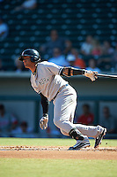 Scottsdale Scorpions Gleyber Torres (17), of the New York Yankees organization, during a game against the Mesa Solar Sox on October 21, 2016 at Sloan Park in Mesa, Arizona.  Mesa defeated Scottsdale 4-3.  (Mike Janes/Four Seam Images)