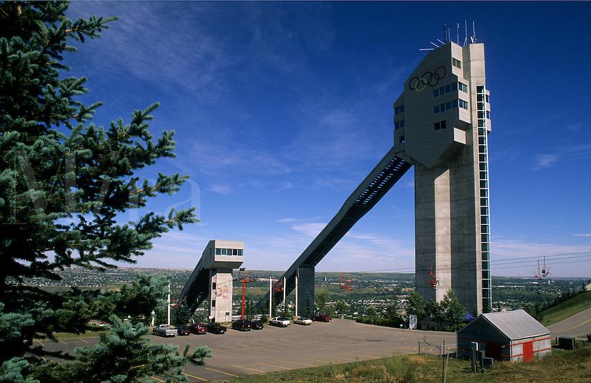 Olympic Ski Jumping stadium and jump, Calgary, Alberta, Canada