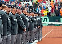 14-09-12, Netherlands, Amsterdam, Tennis, Daviscup Netherlands-Swiss, Umpire lineup