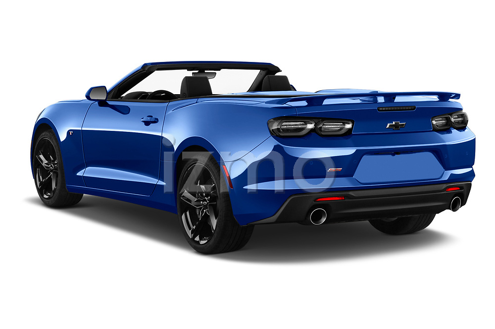 Car pictures of rear three quarter view of 2020 Chevrolet Camaro 1SS 2 Door Convertible Angular Rear
