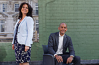 Pictured L-R: Change UK party leader Heidi Allen and spokesman Chuka Umunna. Monday 13 May 2019<br /> Re: Change UK, European Elections rally in Cardiff, Wales, UK.