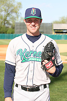 April 17 2010: Jeremy Berg of the Cedar Rapids Kernels at Elfstrom Stadium in Geneva, IL. The Kernels are the Low A affiliate of the Los Angeles Angels. Photo by: Chris Proctor/Four Seam Images