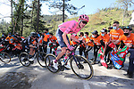 Hugh Carthy (GBR) EF Education-Nippo on the final climb of Ermualde during Stage 3 of the Itzulia Basque Country 2021, running 167.7km from Amurrio to Laudi/Ermualde, Spain. 7th April 2021.  <br /> Picture: Luis Angel Gomez/Photogomezsport | Cyclefile<br /> <br /> All photos usage must carry mandatory copyright credit (© Cyclefile | Luis Angel Gomez/Photogomezsport)