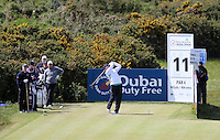 Friday 29th May 2015; Richard Finch, England, tees off at the 11<br /> <br /> Dubai Duty Free Irish Open Golf Championship 2015, Round 2 County Down Golf Club, Co. Down. Picture credit: John Dickson / SPORTSFILE