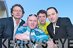 CYCLING RACE: Launching the Muntas Cycling Race in Garveys Castleisland on Saturday.were L/R: Michael OCallaghan (TLI Technology), Eugene Moriarty (myhome.ie.Team), Eoin Concannon (Killorglin Credit Union Team) and Seamus Kerrisk (Garveys.Castleisland).