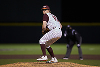 Virginia Tech Hokies relief pitcher Xander Hamilton (18) in action against the Georgia Tech Yellow Jackets at English Field on April 16, 2021 in Blacksburg, Virginia. (Brian Westerholt/Four Seam Images)