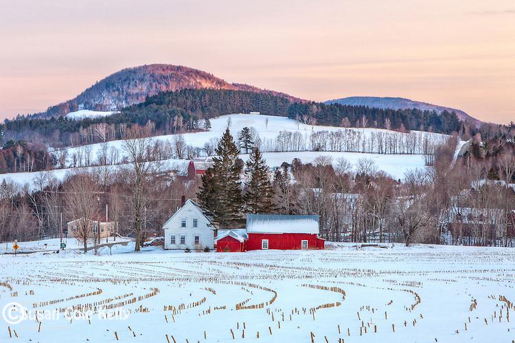 Northeast Kingdom farm country in Peacham, Vermont, USA