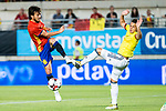 David Jimenez Silva of Spain competes for the ball with  Santiago Arias of Colombia during the friendly match between Spain and Colombia at Nueva Condomina Stadium in Murcia, jun 07, 2017. Spain. (ALTERPHOTOS/Rodrigo Jimenez)