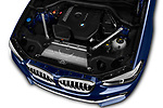 Car stock 2020 BMW X4 xDrive30i 5 Door SUV engine high angle detail view