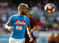 Calcio, Serie A: Napoli vs Roma. Napoli, stadio San Paolo, 15 ottobre. <br /> Napoli Lorenzo Insigne in action during the Italian Serie A football match between Napoli and Roma at Naples' San Paolo stadium, 15 October 2016. Roma won 3-1.<br /> UPDATE IMAGES PRESS/Isabella Bonotto