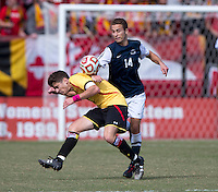 College Park, MD - October 12, 2014: Maryland defeated Penn State 4-0 during their Big Ten game at Ludwig Field.