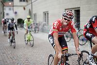'bubbles' for Adam Hansen (AUS/Lotto-Soudal) before the start<br /> <br /> stage 16: Bressanone/Brixen - Andalo 132km<br /> 99th Giro d'Italia 2016