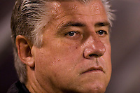 Columbus Crew head coach Sigi Schmid before the start of a MLS regular season match against the Red Bulls at Giants Stadium, East Rutherford, NJ, September 16, 2006. The Red Bulls defeated the Crew 1-0.