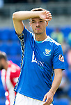 St Johnstone FC Season 2018-19…  McDiarmid Park    <br />Stefan Scougall<br />Picture by Graeme Hart. <br />Copyright Perthshire Picture Agency<br />Tel: 01738 623350  Mobile: 07990 594431