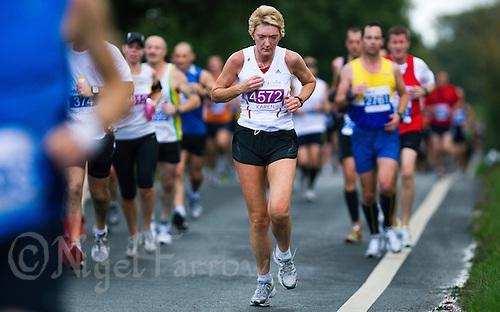 09 SEP 2011 - CHESTER, GBR - Karen Massey - MBNA Chester Marathon (PHOTO (C) NIGEL FARROW)