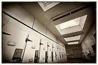 Body fridges in abandoned mortuary
