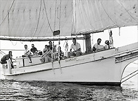 """Fine Art, Limited Edition Skipjack print of Chesapeake Bay Skipjack F.C. Lewis from the """"Skipjack Sunday"""" collection."""